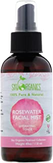 Sky Organics, 100% Pure Organic, Rose Water Facial Mist, Hydrating Toner, 4 fl oz (118 ml)