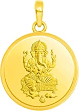 Candere by Kalyan Jewellers 24k (999) Yellow Gold Ganesh gold coin pendant Pendant for Women