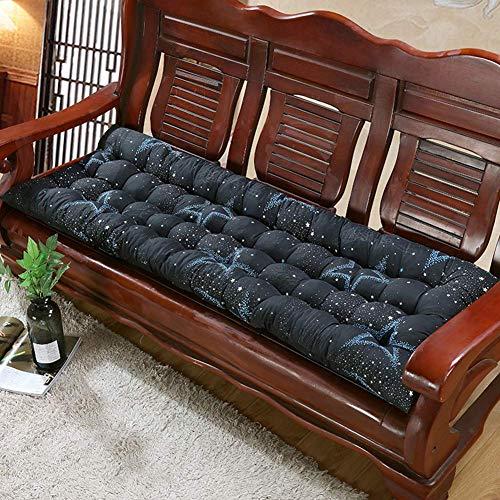 ZYX Cojín grueso para silla de jardín de 2 o 3 plazas, cojín de asiento grueso, cojín para tumbona, cojín para exterior, cojín de banco largo interior, 48 x 120 cm