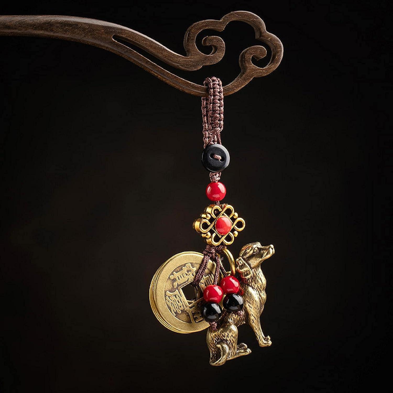 SZLGPJ Credence Car Keychain Small Pendant Max 70% OFF Zodiac Hand-Wove Brass Dog Bag
