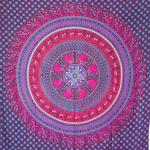 MOMOMUS Tapiz Mandala Étnico - 100% Algodón, Grande, Multiuso - Pareo/Toalla de...