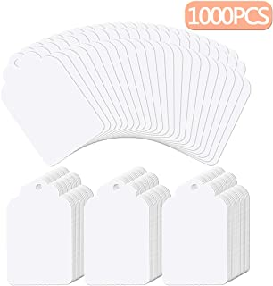 Molliy Price Tags for Clothes 1000 Pcs Merchandise Marking Tags Labels White (1.75 x 1.1 Inches)