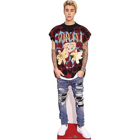 Star Cutouts Ltd Justin Bieber - Figura Decorativa de cartón (tamaño pequeño, 176 x 53 x 176 cm), Multicolor