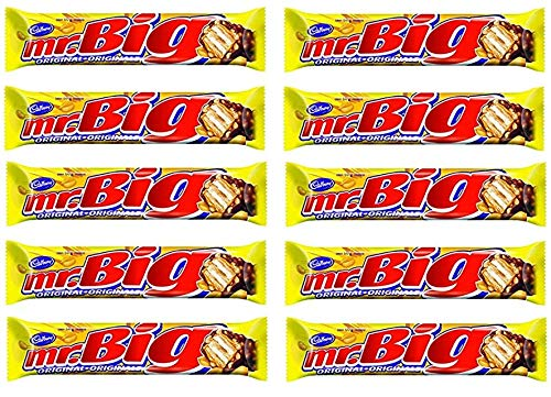 10 Pack of Mr. Big Chocolate Bars 600g/60g Each BAR The Great Taste of Canada Chocolate bar