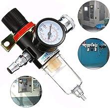 MASUNN Afr-2000 1//4 Filtre De Compresseur DAir Filtrage DEau Trap Tools Kit With Regulator Gauge