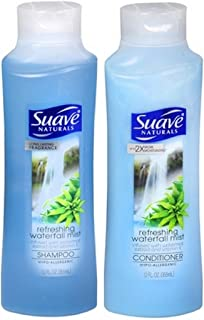 Suave Naturals Shampoo & Conditioner Set, Waterfall Mist, 12 Ounce Each