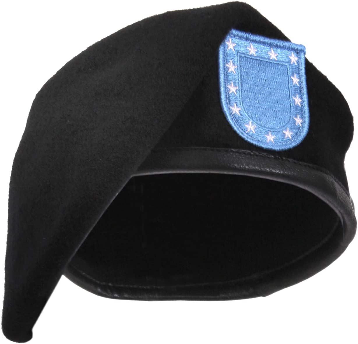 Inspection Ready Wool BLACK BERET WITHOUT FLASH Military French Cap Beanie