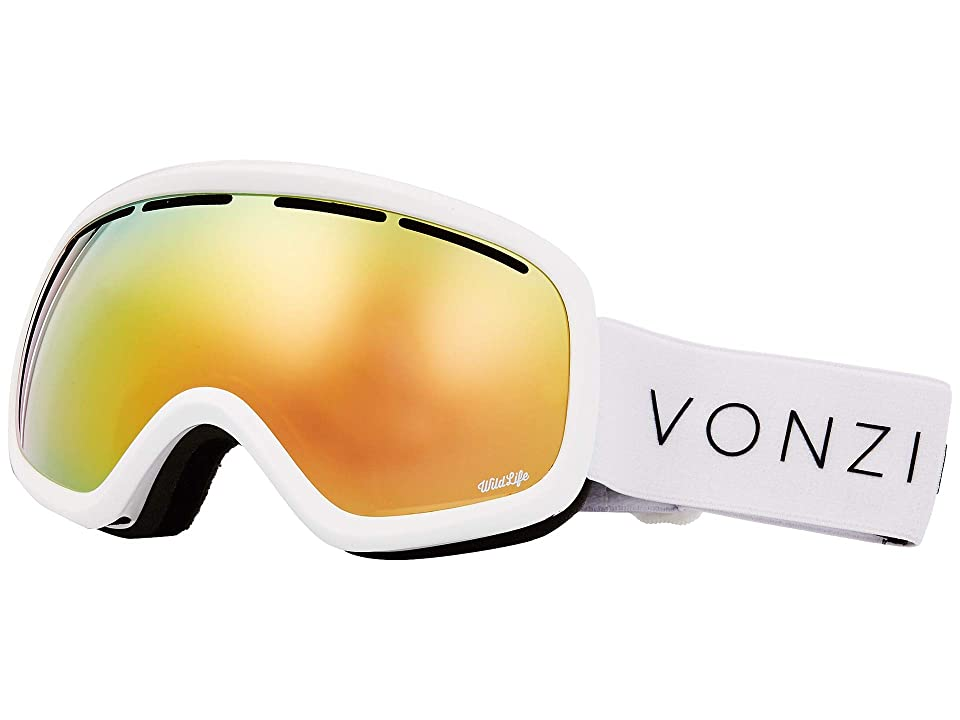 VonZipper Skylab Goggle (White Gloss/Wild Gold Chrome) Snow Goggles