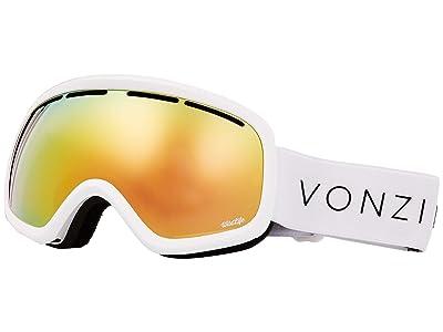 VonZipper Skylab Goggle (White Gloss/Wild Gold Chrome) Snow Goggles
