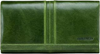 Women's Wallet Multi-Function Wallet Casual Long Clutch Bag Retro Long Wallet Candys house (Color : Green, Size : 19 * 3 * 10cm)