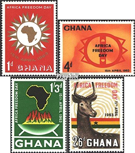 Ghana mer.-no.: 141-144 (complète.Edition.) 1963 Africaine Liberté (Timbres pour Les collectionneurs) D´Autres mammifères