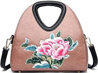 Women's Shoulder Bag Women Leather Shoulder Tote Bag Large Leather Crossbody Travel (Color : Pink, Size : One size)