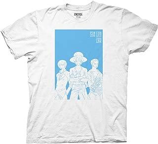 Ripple Junction One Piece Adult Unisex Luffy Sanji Zoro Light Weight 100% Cotton Crew T-Shirt