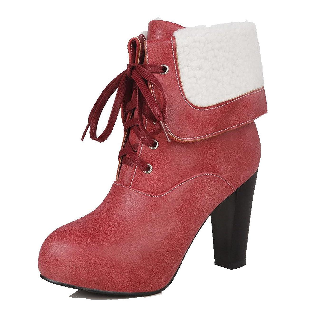 思春期死にかけている相手[オールエイチキューファッション] 女性用 ミシンで縫い糸 ハイヒール ショートブーツ F2AQXE027670
