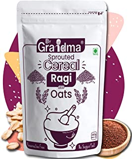 ByGrandma Sprouted Cereal Mix - Ragi and Oats a Best Organic Baby Food 6+ Month Old Baby | Preservative Free Instant Porri...