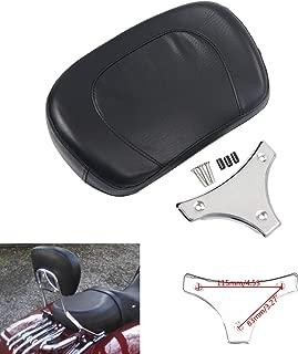 Motorcycle Leather Detachable Sissy Bar Backrest Pad Whit Chrome Bracket For 1997-2018 Harley Davidson Touring Model