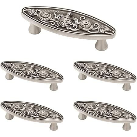 Franklin Brass Brushed Satin Pewter Seaside Cottage Oval Handle Pull, Cabinet Handles and Drawer Pulls for Kitchen Cabinets and Dresser Drawers, 3 Inch, 5-Pack, PBF663-BSP-C1, Cabinet Hardware