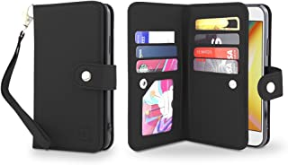Gear Beast Flip Cover Dual Folio Case fits iPhone XR Wallet Case Slim Protective PU Leather Case 7 Slot Card Holder Including ID Holder 2 Inner Pockets Stand Feature Wristlet for Men and Women