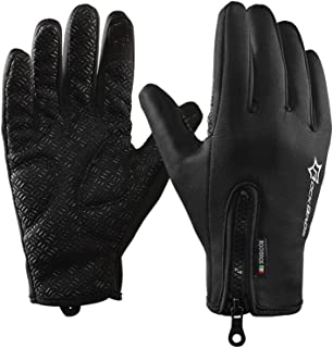 RockBros Cycling Winter Mountain Bike Motorcycle Windproof Touch Screen Gloves Fleece Thermal Anti-Skid Full Finger Gloves
