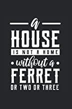 A House Is Not A Home Without Ferret or Two or Three: Notizbuch A5 120 Seiten liniert (German Edition)