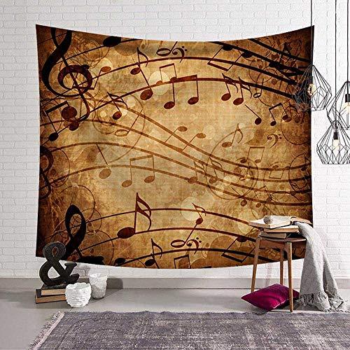 WERT Notas Musicales Tapiz Colcha decoración del hogar Hippie Arte decoración de Fondo Mandala Mantel Estera cojín Toalla de Playa Tapiz A12 200x150cm