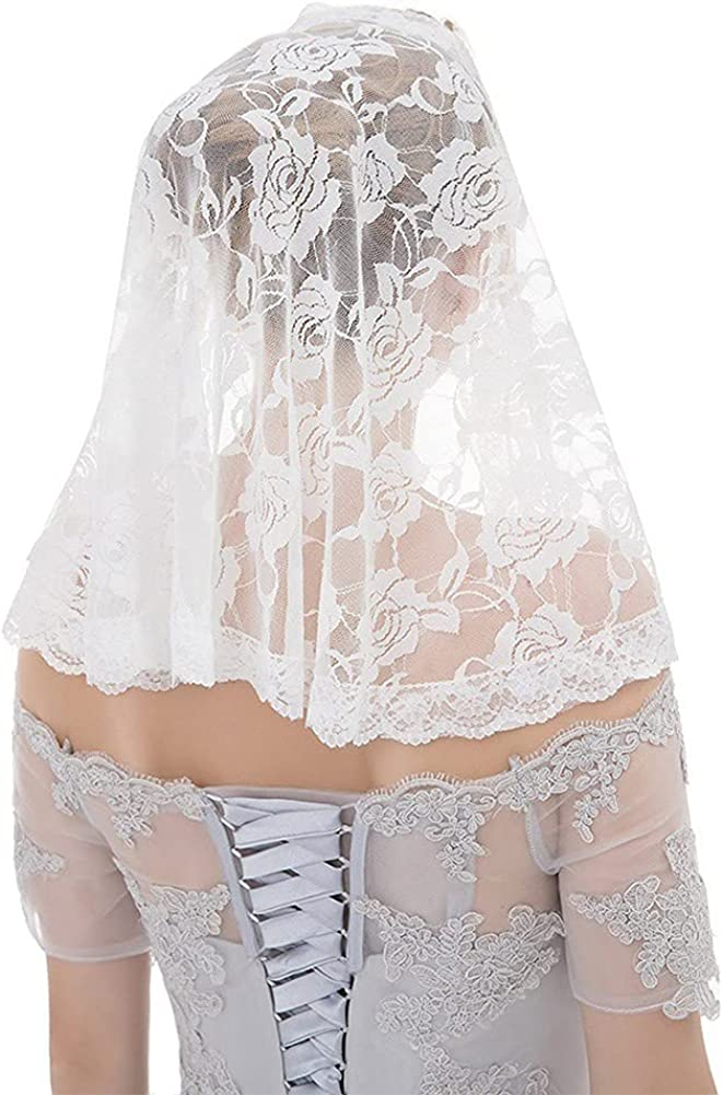 Haraty Wedding Bridal Veils Short Shawl Single Layer Veil Muslim Lace Flower Edge Tulle Bride Hair Accessories