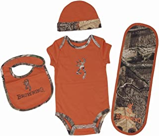 OFFICIALLY LICENSED BROWNING BABY TEXAS ORANGE 4 PIECE CAMO SET