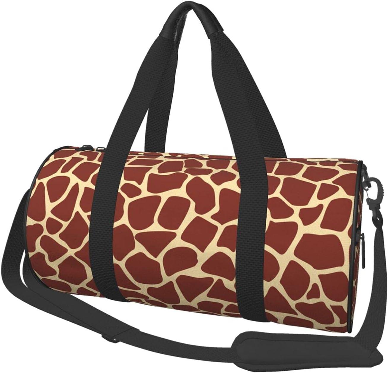 Travel Bags Brown Giraffe Fur OFFicial shop Men Women's Large D Pattern Ranking TOP15