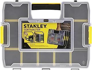 Stanley Organizer SortMaster Junior Werkzeugbox leer Stapelbarer Sortimentskasten aus Kunsstoff mit 14 individuell anpassbaren Fächern für Kleinteile und Werkzeug 1-97-483
