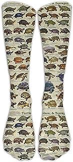 Joy Edward, Turtles An Tortoises - Calcetines de compresión para fitness, viajes, vuelo, enfermeras, recuperación y rendimiento.