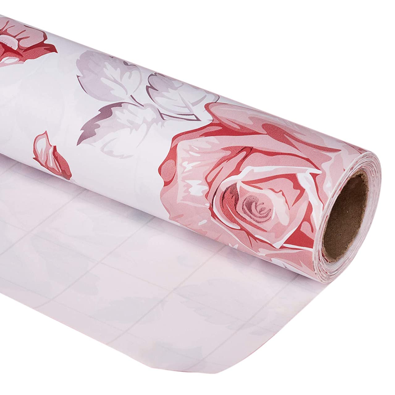 LaRibbons Gift Wrapping Paper Roll - Beautiful Floral Design for Birthday, Mother Day, Wedding, Holiday Gift Wrap - 30 inch x 32.8 feet (81.8 sq ft.) - Sold Individually