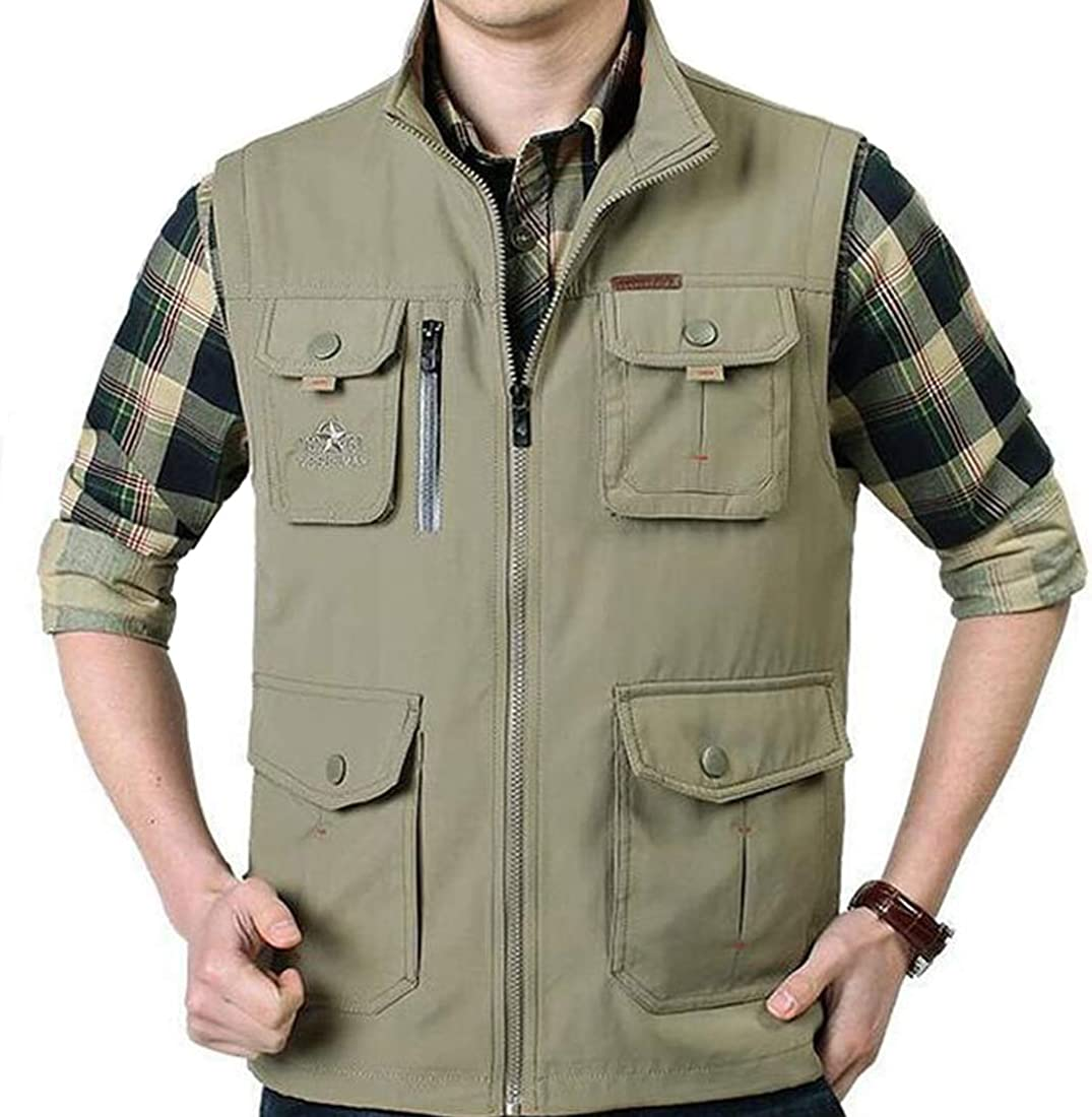 Gihuo Mens Lightweight Quick Dry Outdoor Multi Pockets Fishing Vest