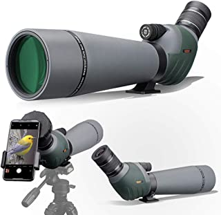 Gosky 20-60x80 Dual Focusing ED Spotting Scope - Ultra High Definition Optics Scope with Carrying Case and Smartphone Adap...
