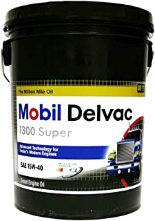 Mobil 112691 15W-40 Delvac 1300 Super Motor Oil - 5 Gallon Pail
