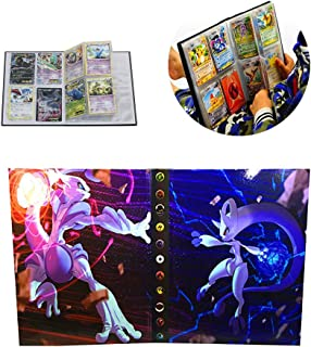 Card Holder Collection Handbook Trading Card Album for Pokemon Holds up to 160 Trading Cards (Mewtwo Cover)