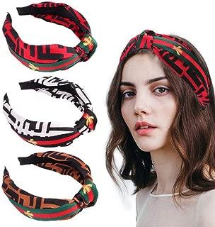 3 pack New Winter Hairband Headband For Women Fashion Turban Striped Hair Band Bee Pattern Print Hair Accessories