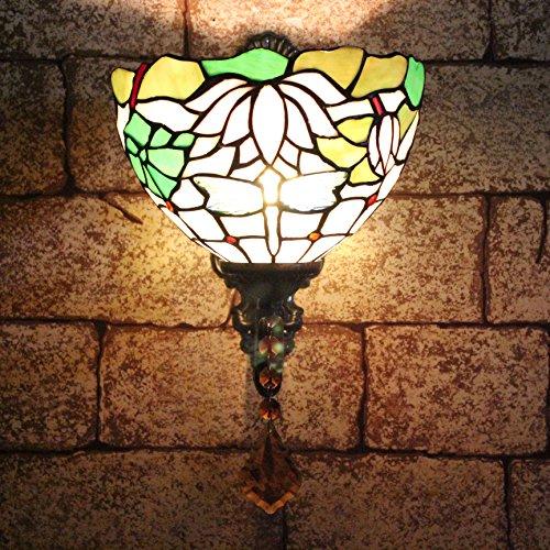 Lampes TOYM 8 pouces de style européen chevet en verre miroir de jardin Applique d'éclairage Tiffany Jane l'Europe