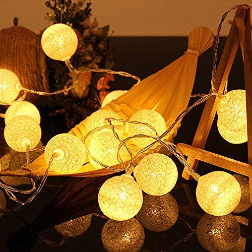 Ouneed® 1.3M / 2.3 M LED Lumiere Ambiance Deco Exterieur (1.3M 10LED, Beige)