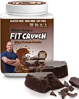FITCRUNCH Tri-Blend Protein | Designed by Robert Irvine | 130 Calories, 24g of Protein & 1g of Sugar | Mixology Technology, Gluten Free, Soy Free & Non-GMO (Chocolate Deluxe)