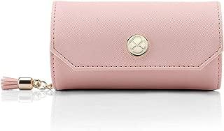 Vlando アクセサリーバッグ小柄携帯旅行外出のイヤリング ネックレス 腕時計 化粧品 お釣り収納バッグ-新ピンク