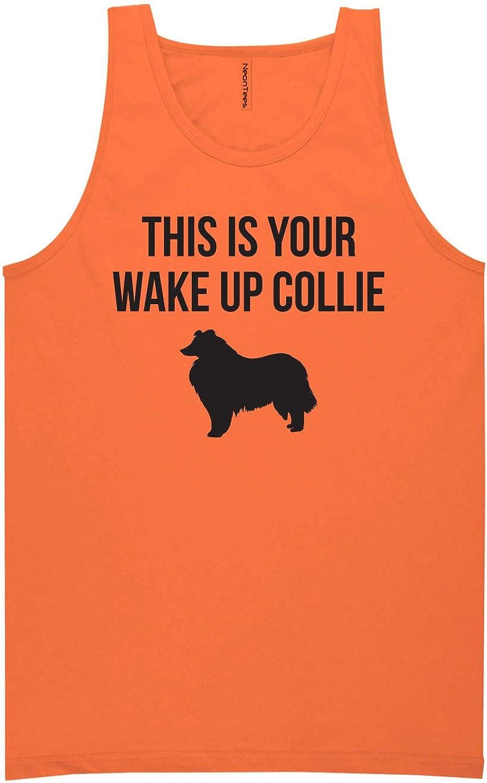 zerogravitee This is Your Wake Up Collie Neon Orange Tank Top - XX-Large