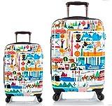 Equipaje, Maletas y Bolsas de Viaje - Premium Designer Maleta Rígida Set 2 Piezas - Heys Artista Fernando Canada Equipaje de Mano + Trolley con 4 Ruedas Grande