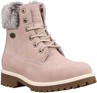 Lugz Women's Convoy Fur Classic 6-inch Chukka Fashion Boot, Soft Pink/Bone/Gum, 9.5, M
