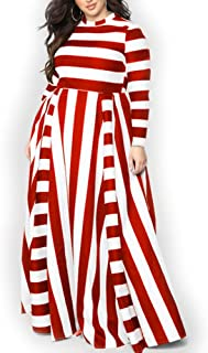 Best red and white striped dress plus size Reviews