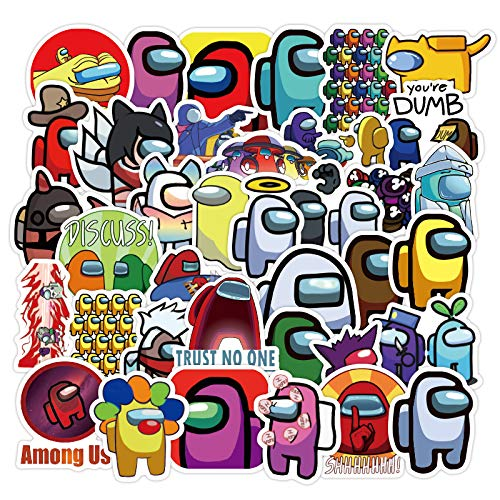 JINER Among us Are 40 Stickers of Sticker Luggage Notebook Mini Small Phone Case Stickers