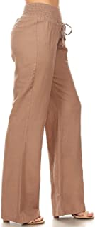 Via Jay Women's Casual Relaxed-Fit Wide Leg High Waist Pants