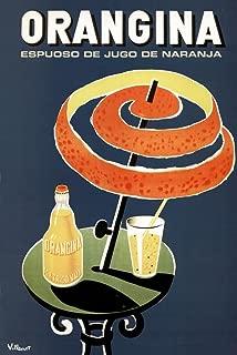 Bernard Villemot Orangina Vintage Orange Drink Advertising Ad Orange Peel Umbrella Cool Wall Decor Art Print Poster 24x36