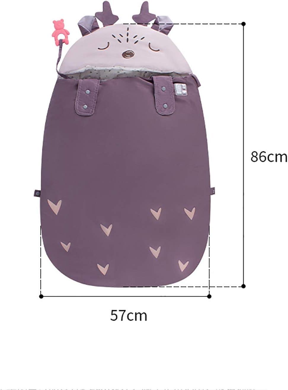 HS-LAMP Hiver Sac de Couchage Bebe Poussette, Chaud Sac de Couchage Enfant Coton pour Activités Intérieures et Extérieures 4 Saisons 86 * 57cm (Color : Purple) Orange