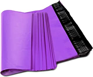 Poly mailers 12 x 15.5 Shipping bags 12 x 15 1/2 by Amiff. Purple mailing bags 2.5 mil thick. Pack of 100 poly envelopes. Peel and Seal, Waterproof, Lightweight. Wrapping, Packing, Packaging.