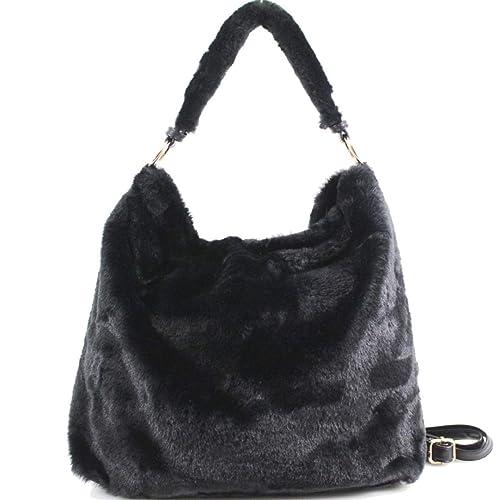 LeahWard Women s Soft Faux Fur Shoulder Cross Body Bags School Holiday  Handbags Gift 28 7d8801c19c501